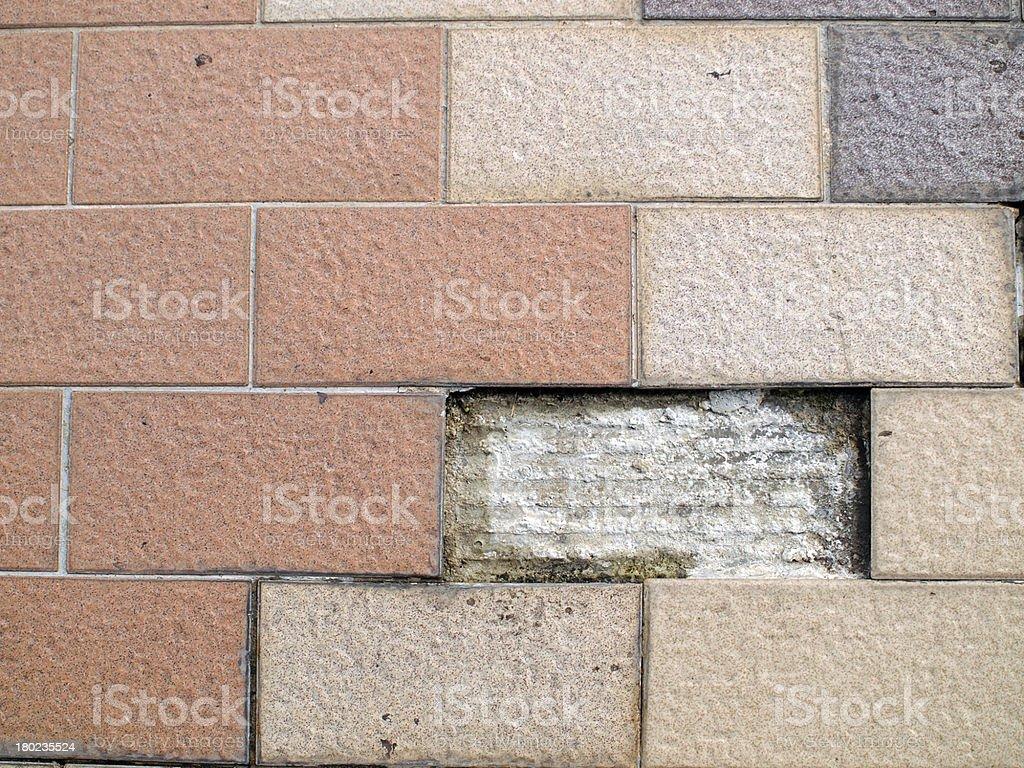broken Patterned tiles royalty-free stock photo
