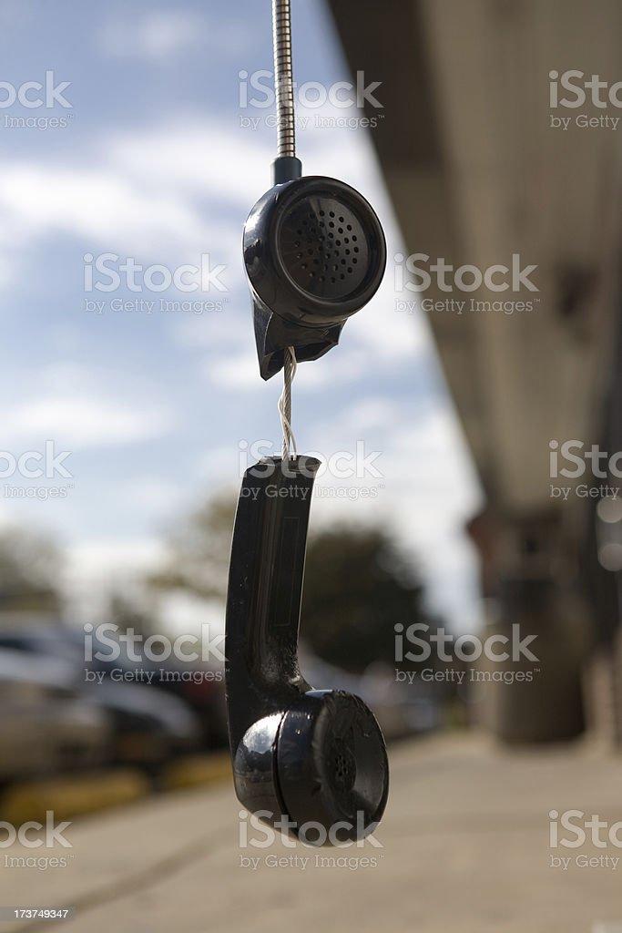 Broken Pay Phone royalty-free stock photo