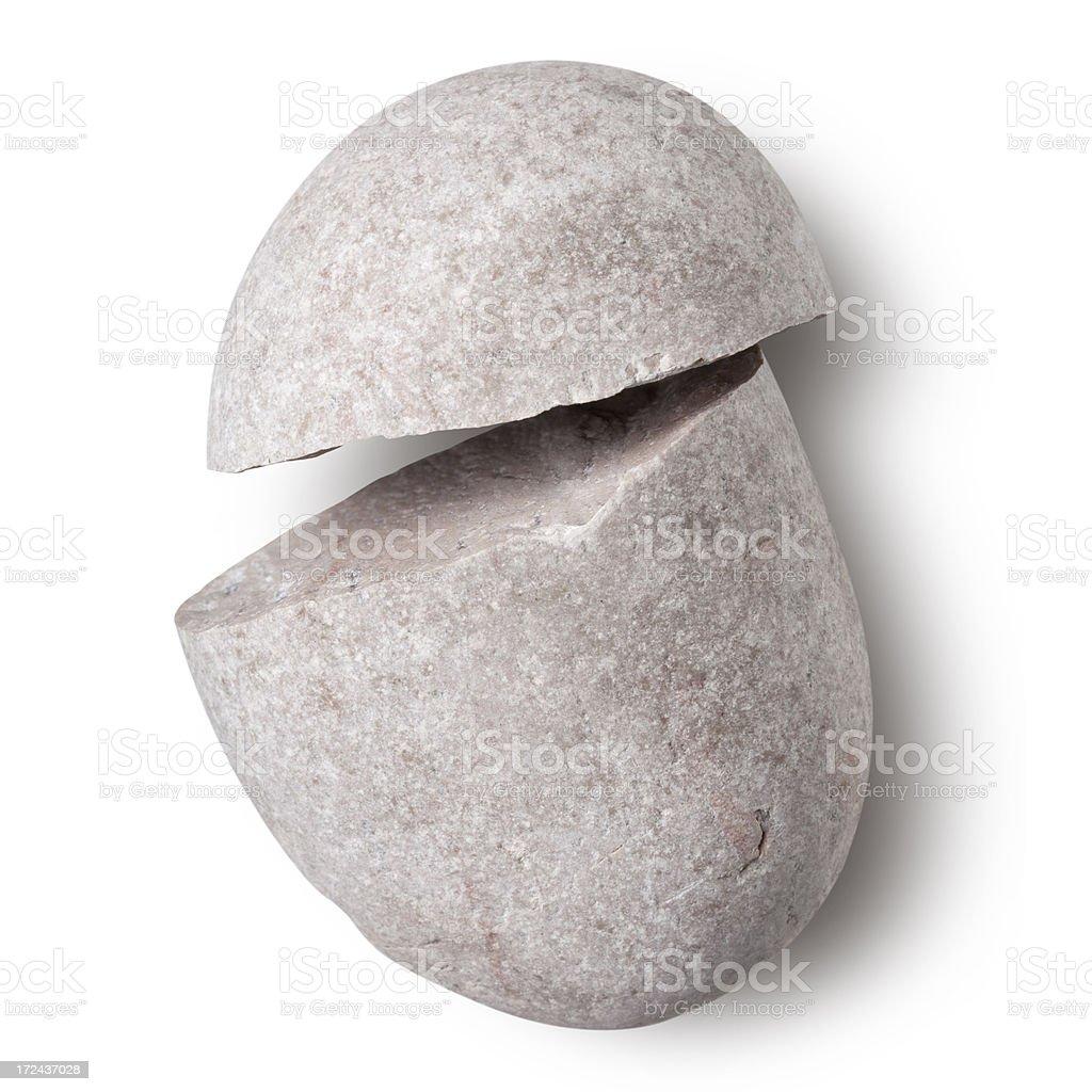 Broken pebble stock photo