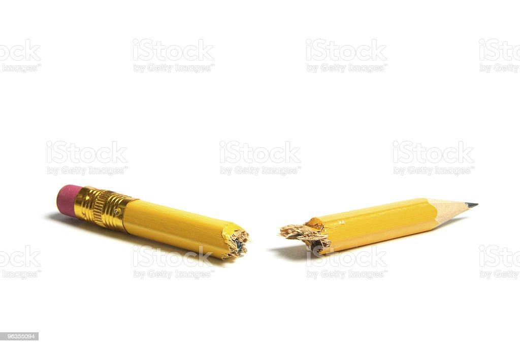 Broken Pencil stock photo