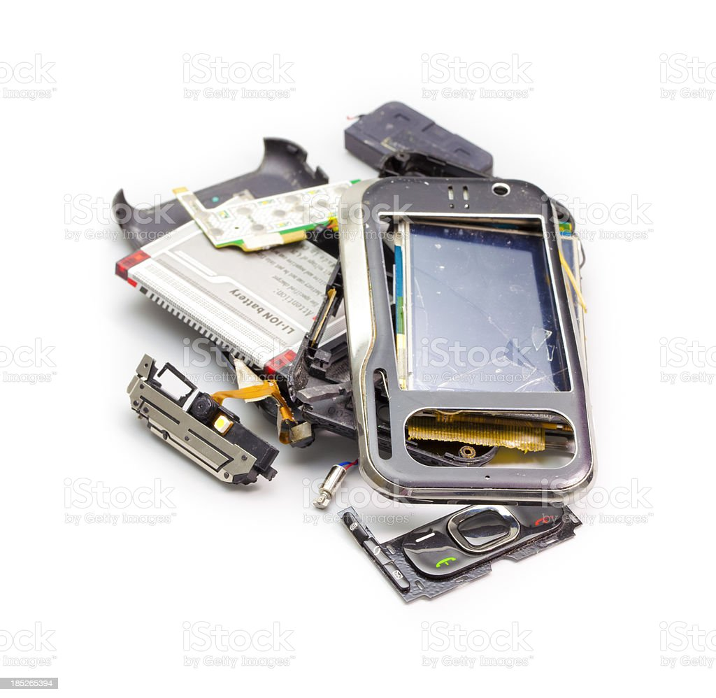 Broken phone royalty-free stock photo