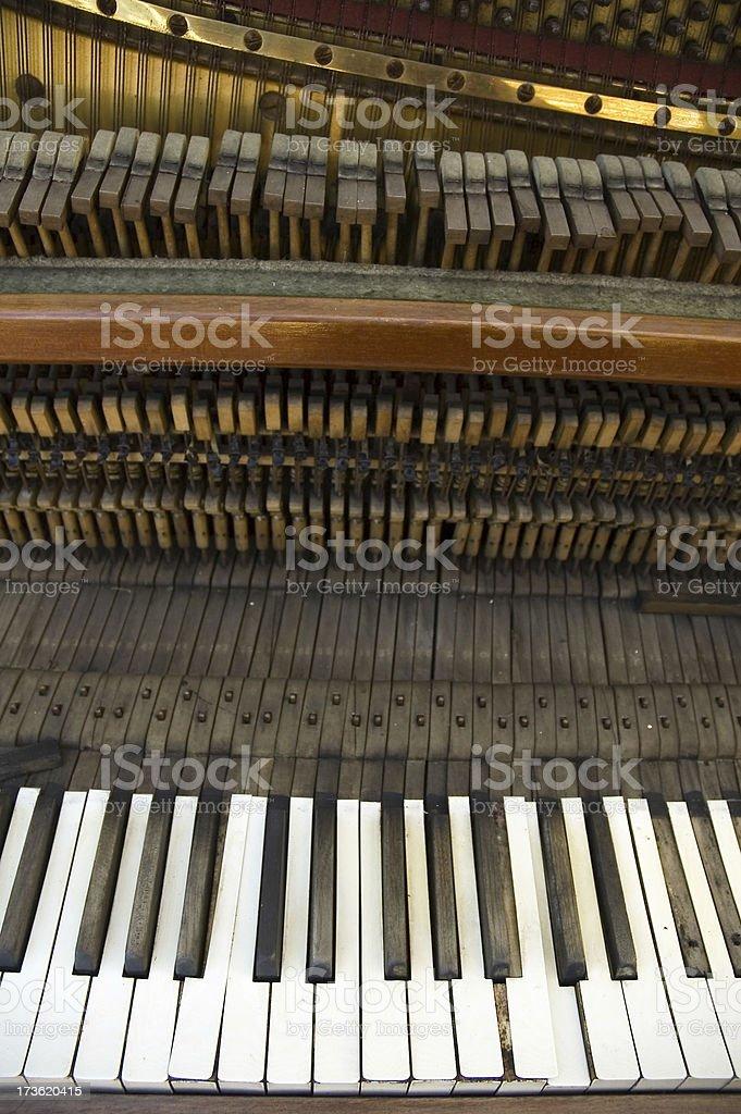 broken piano 4 royalty-free stock photo