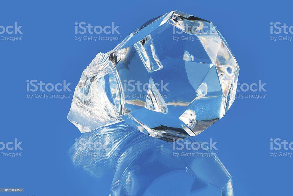 Broken Piece Of Glass stock photo