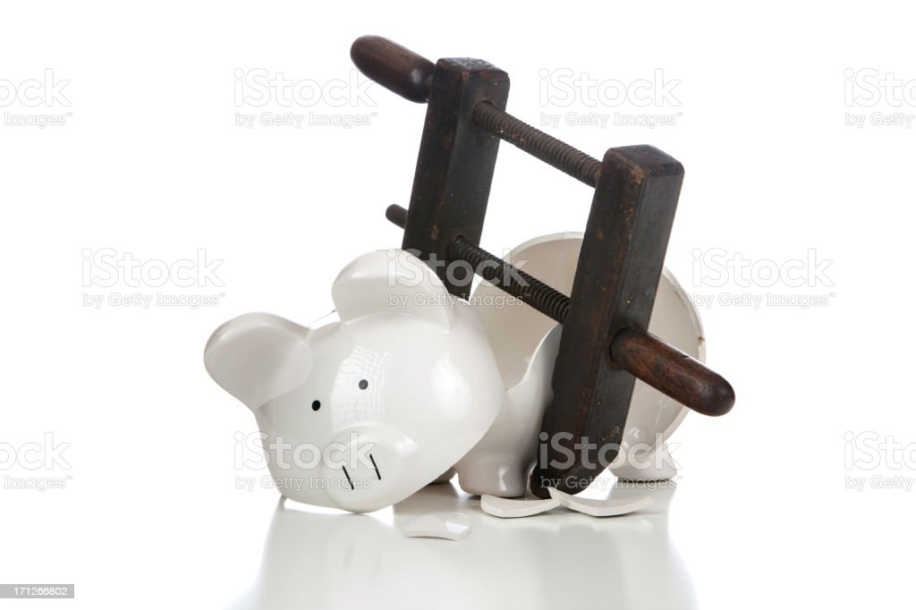 Broken Piggy Bank from Above royalty-free stock photo