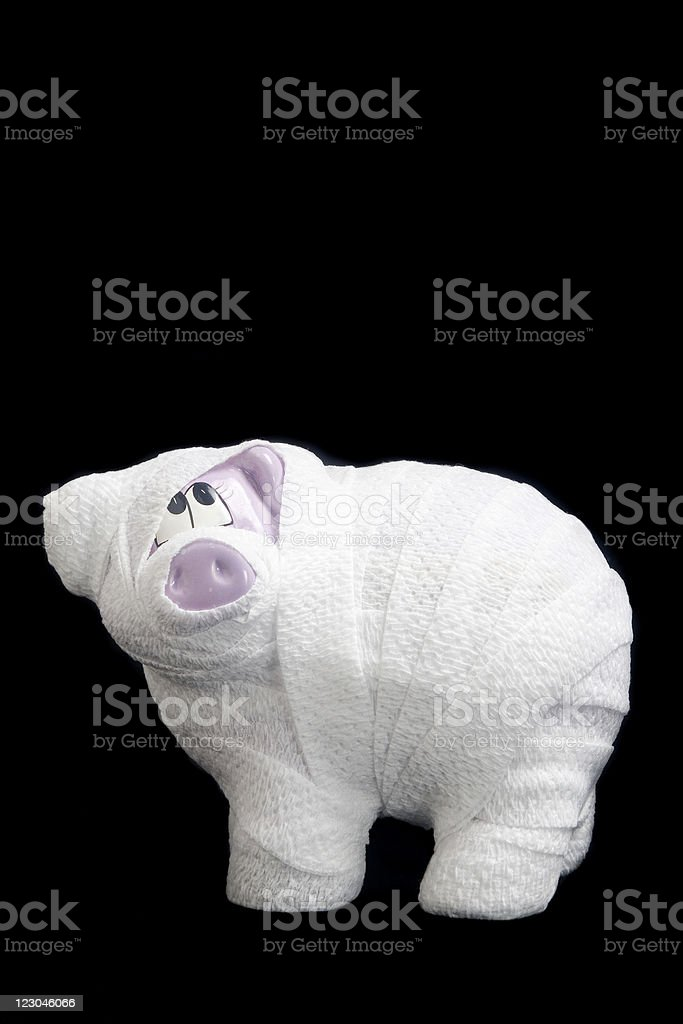Broken Piggy Bank royalty-free stock photo