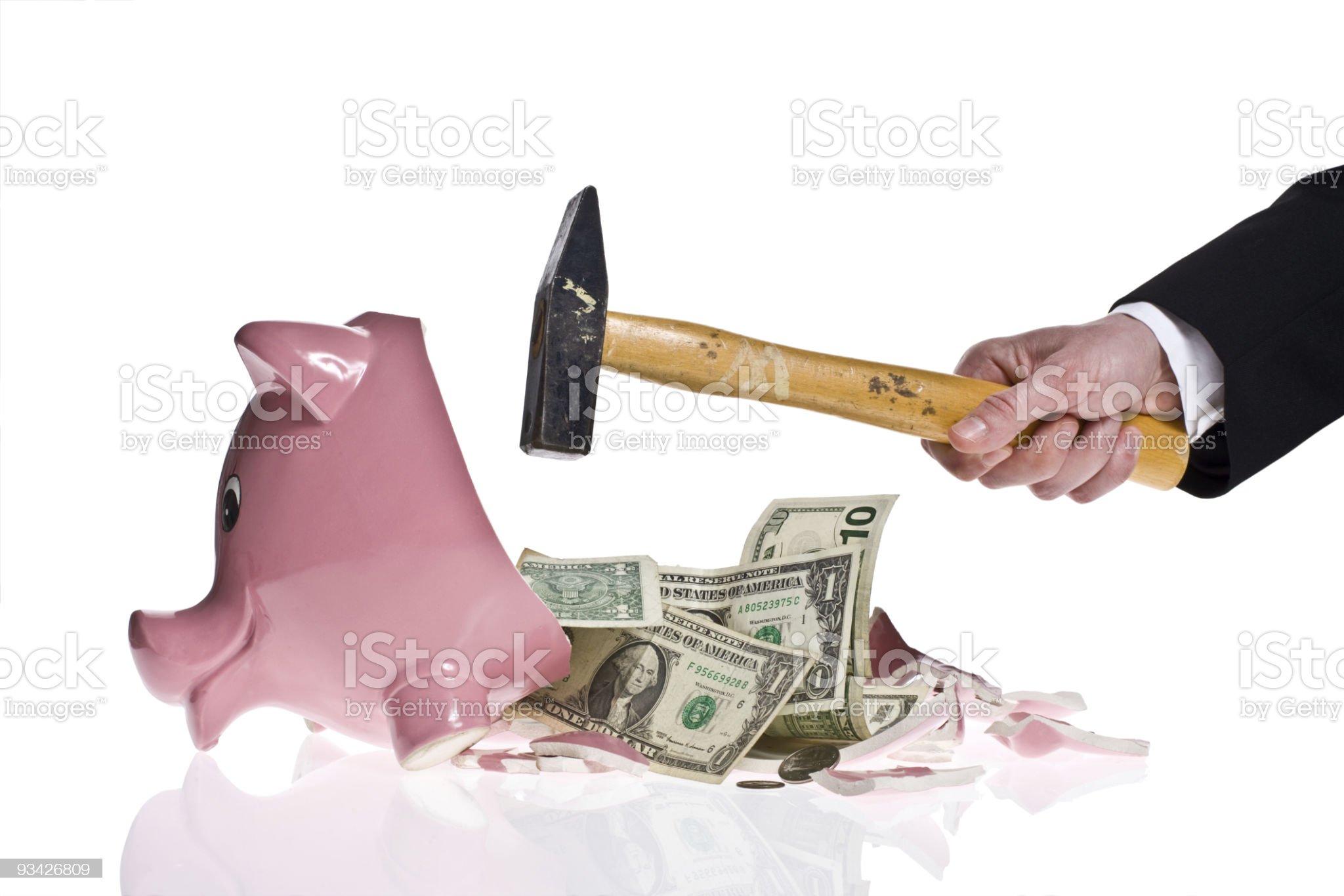 broken piggy bank royalty-free stock photo