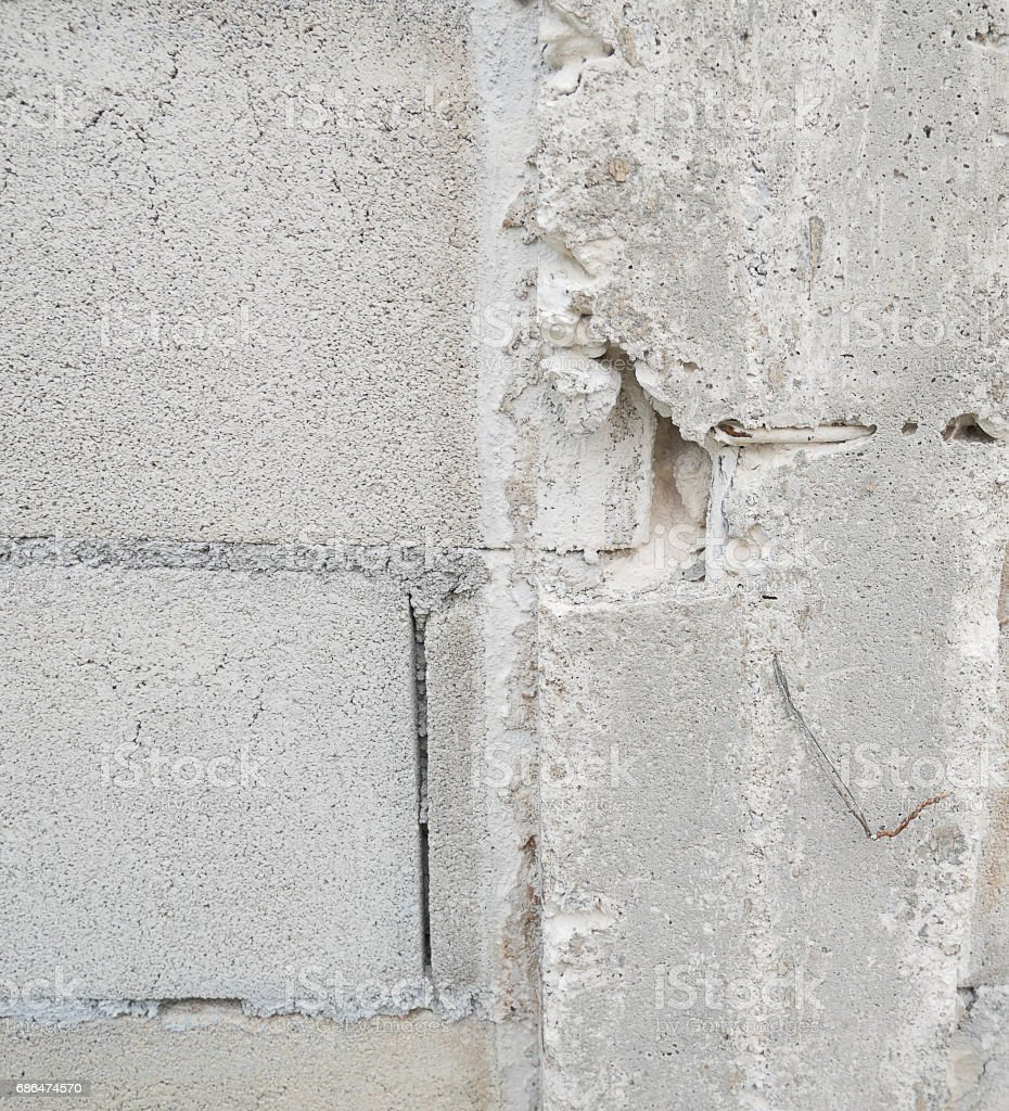 broken Pillar concrete wall stock photo