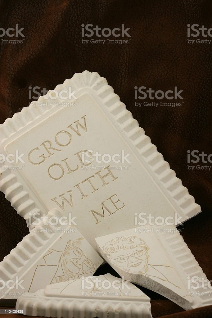 Broken Plaque (created by photographer) royalty-free stock photo