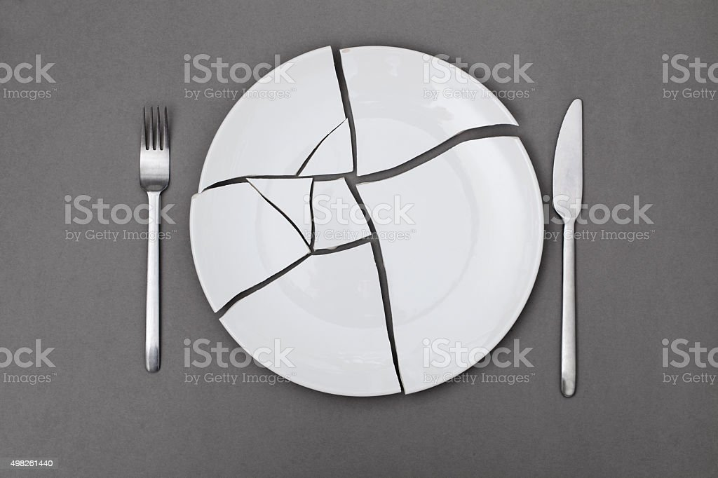 broken plate stock photo