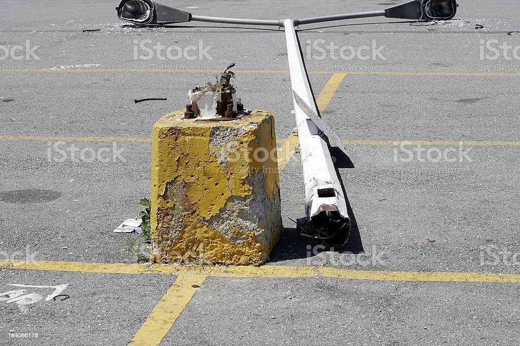Broken Pole stock photo