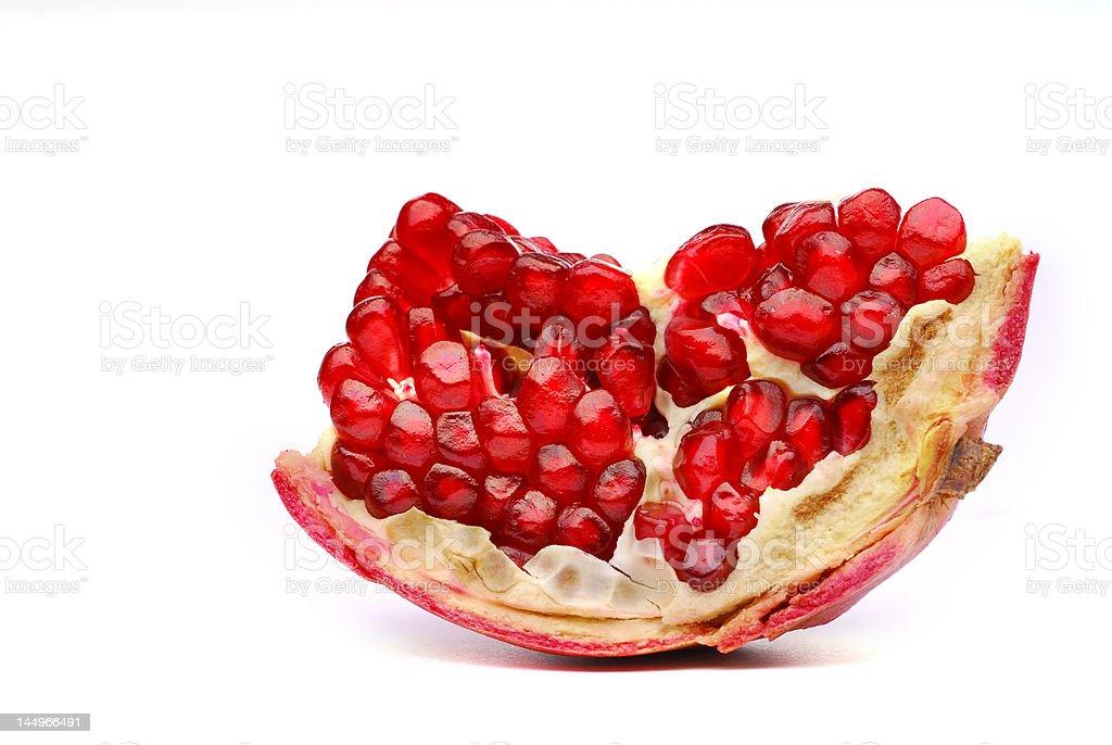 Broken pomegranate royalty-free stock photo