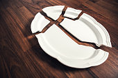 Broken Porcelain Plate