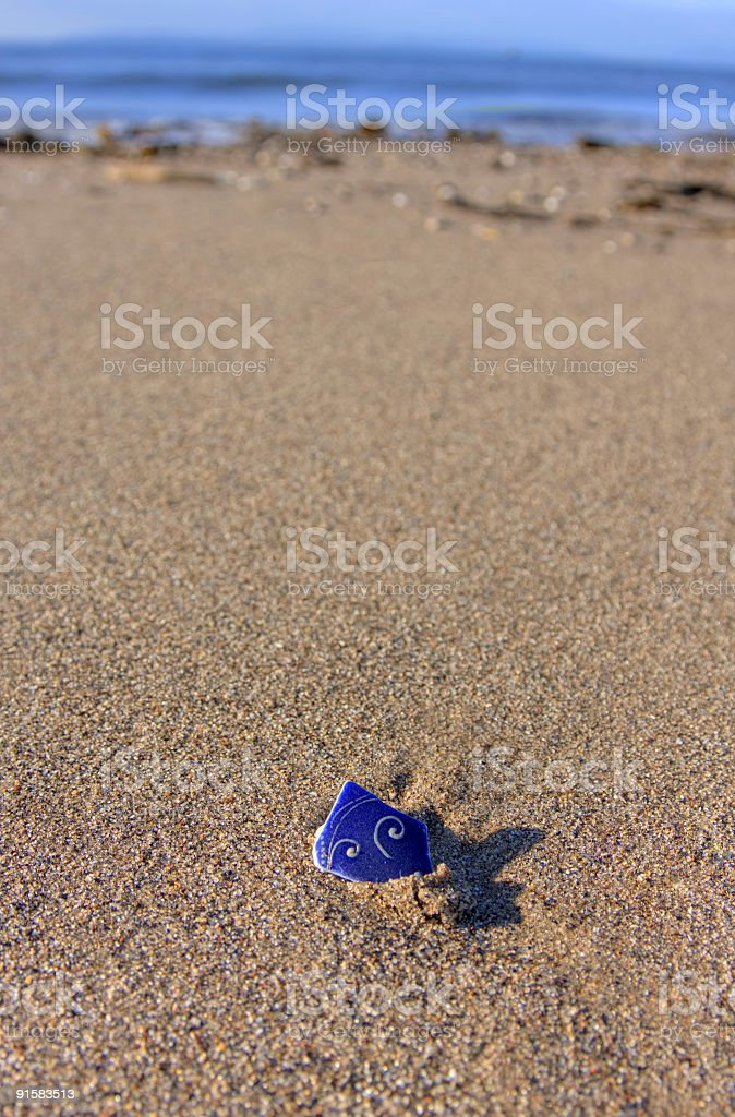 Broken Pot, Breaking Wave royalty-free stock photo