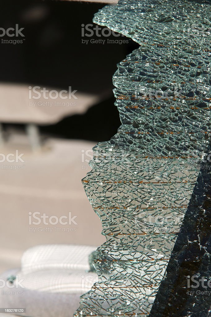 Broken Rear Windshield stock photo