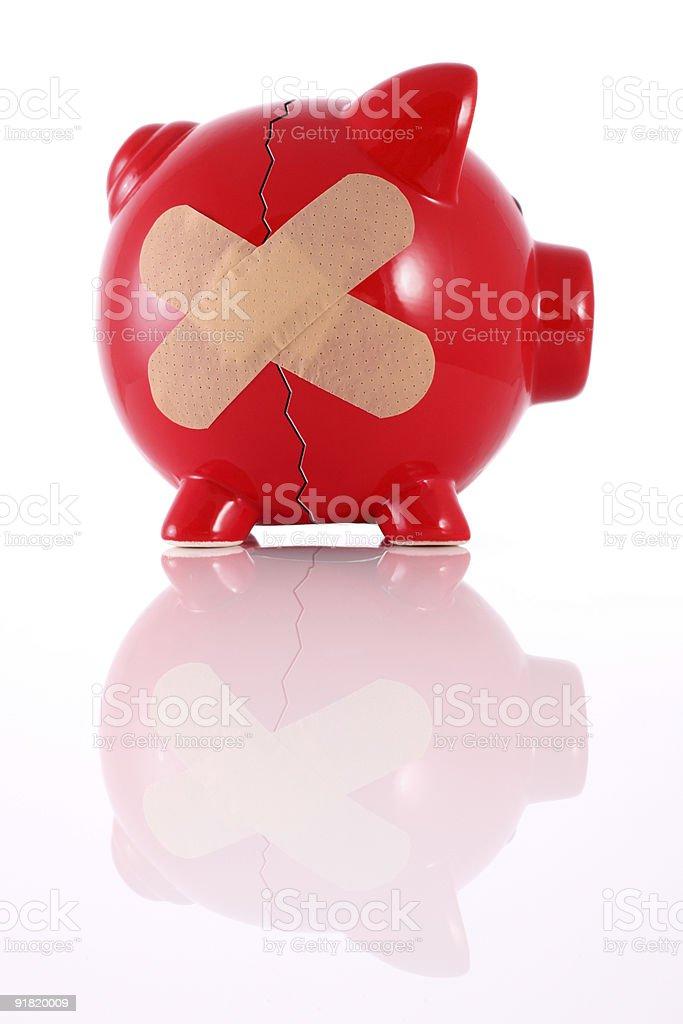 Сломанный Свинья-копилка Стоковые фото Стоковая фотография