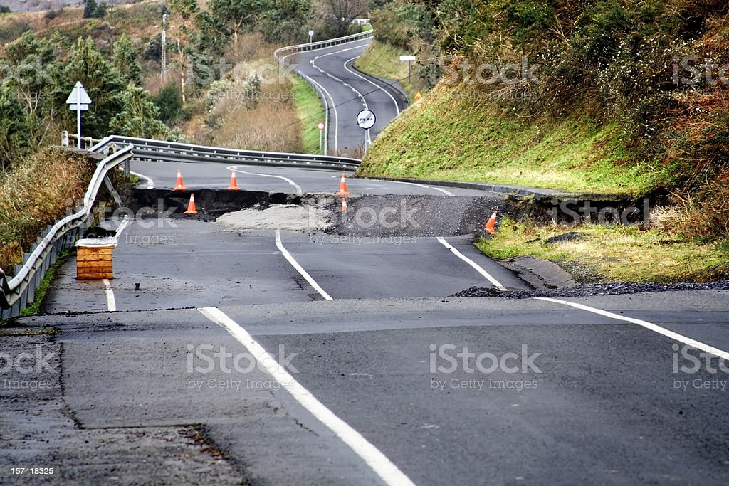 broken road stock photo