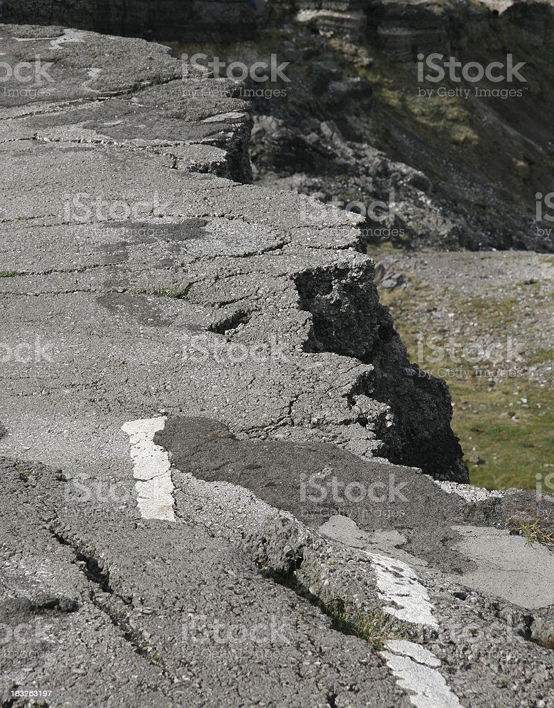 Broken Road stock photo
