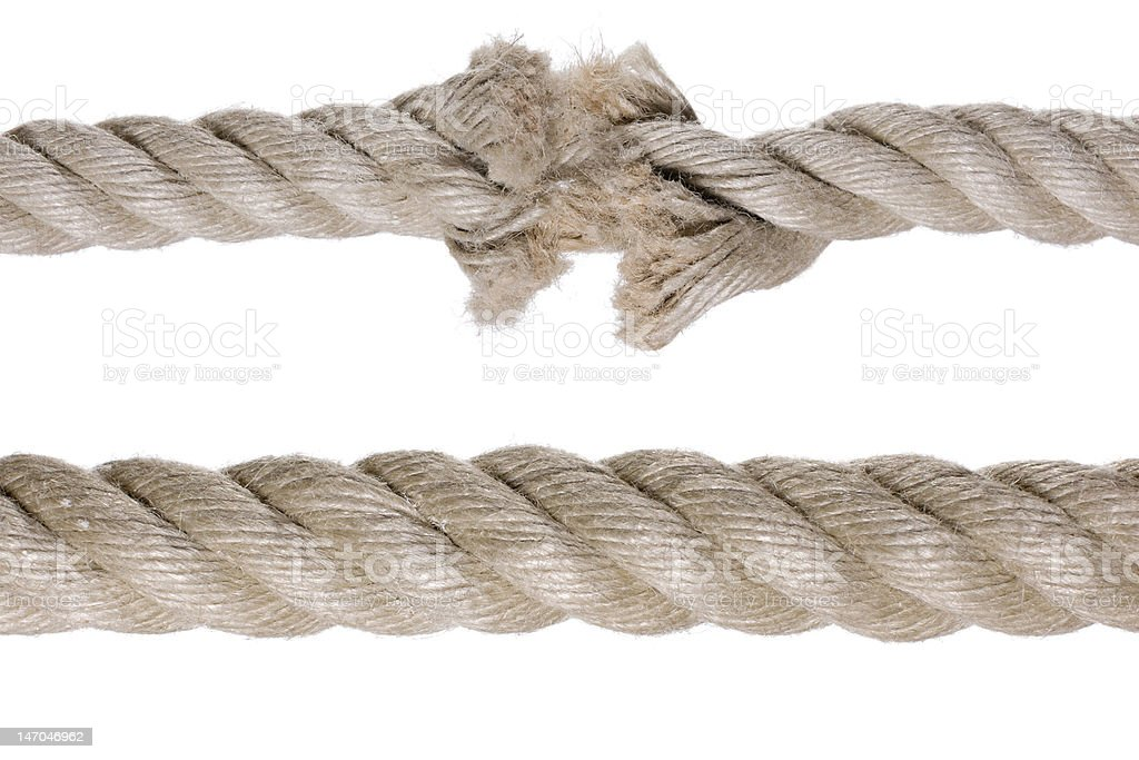 broken rope royalty-free stock photo