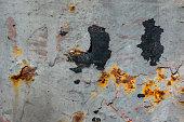 Broken rustic metal sheet worn out surface.