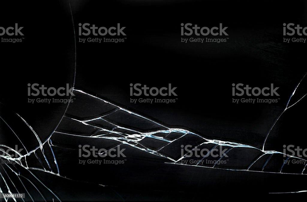 Broken screen smart phone stock photo