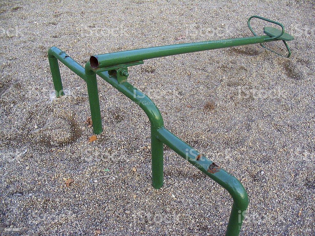 Broken seesaw royalty-free stock photo