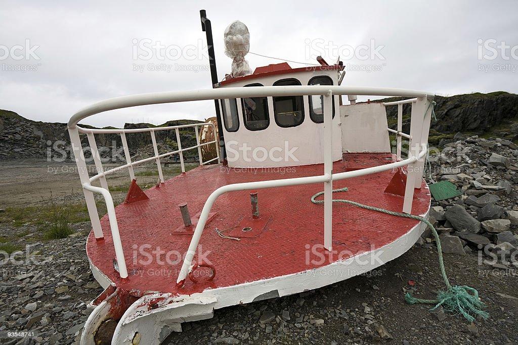 Broken ship stock photo