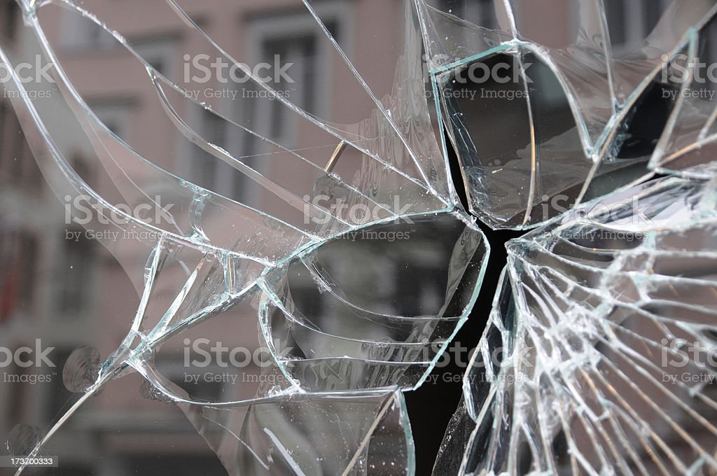 broken shop window royalty-free stock photo