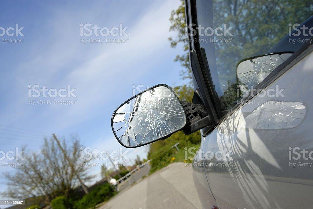 Broken Side-View Mirror stock photo
