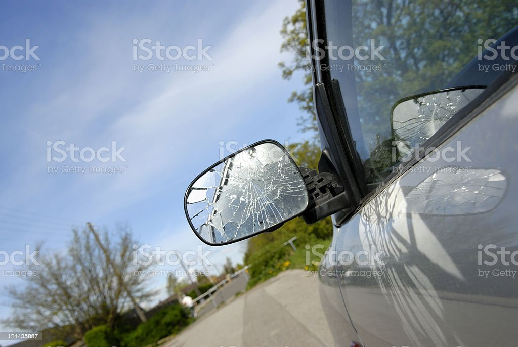 Broken Side-View Mirror stock photo