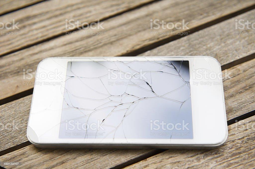 Broken Smart Phone royalty-free stock photo
