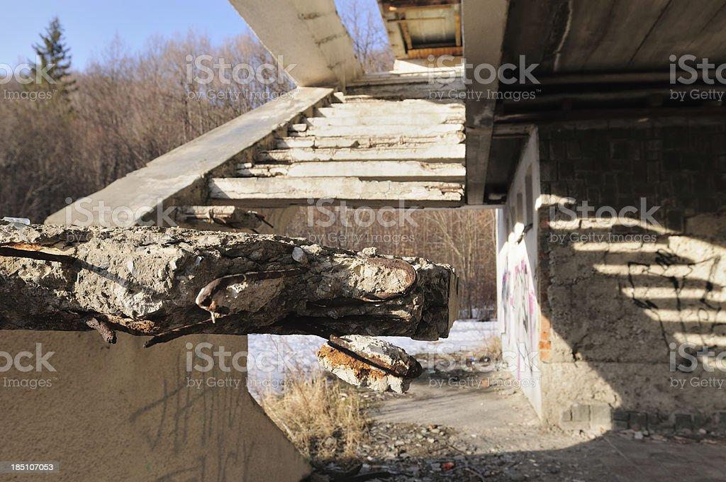 Broken staircase royalty-free stock photo