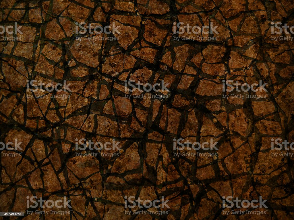 Broken stone mosaic pattern, background texture royalty-free stock photo