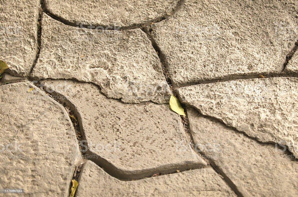 Broken stone pattern royalty-free stock photo