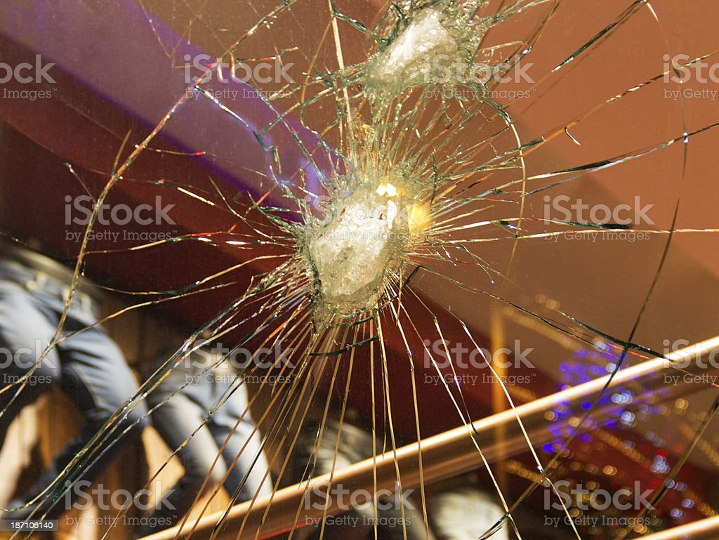 Broken Store Window royalty-free stock photo