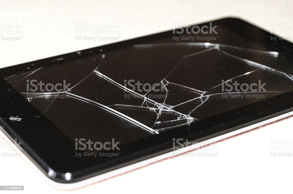broken tablet royalty-free stock photo