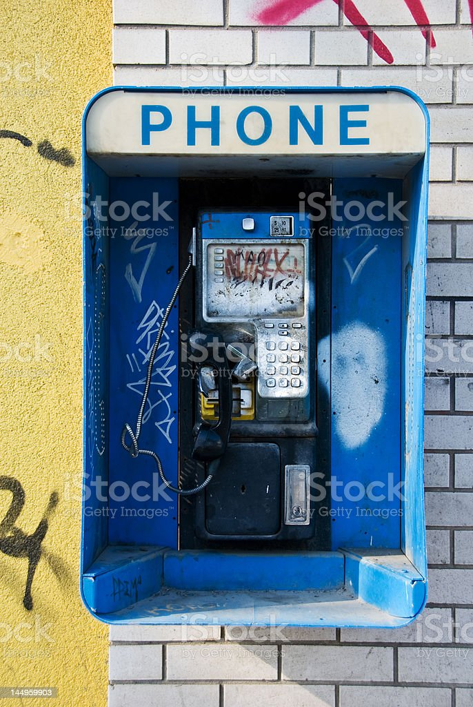 Broken Telephone royalty-free stock photo