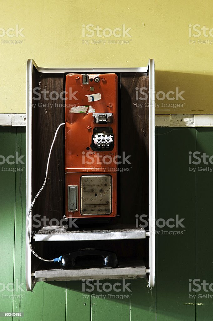 Broken Telephone royalty-free stock photo