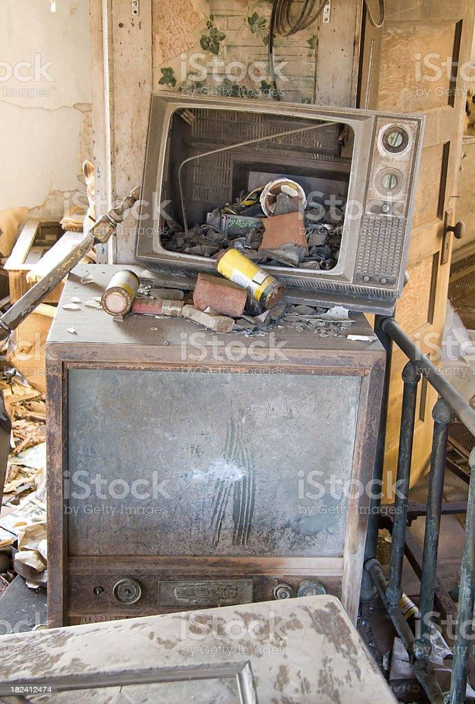 Broken Televisions royalty-free stock photo
