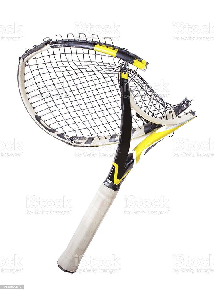 Broken Tennis Racquet stock photo