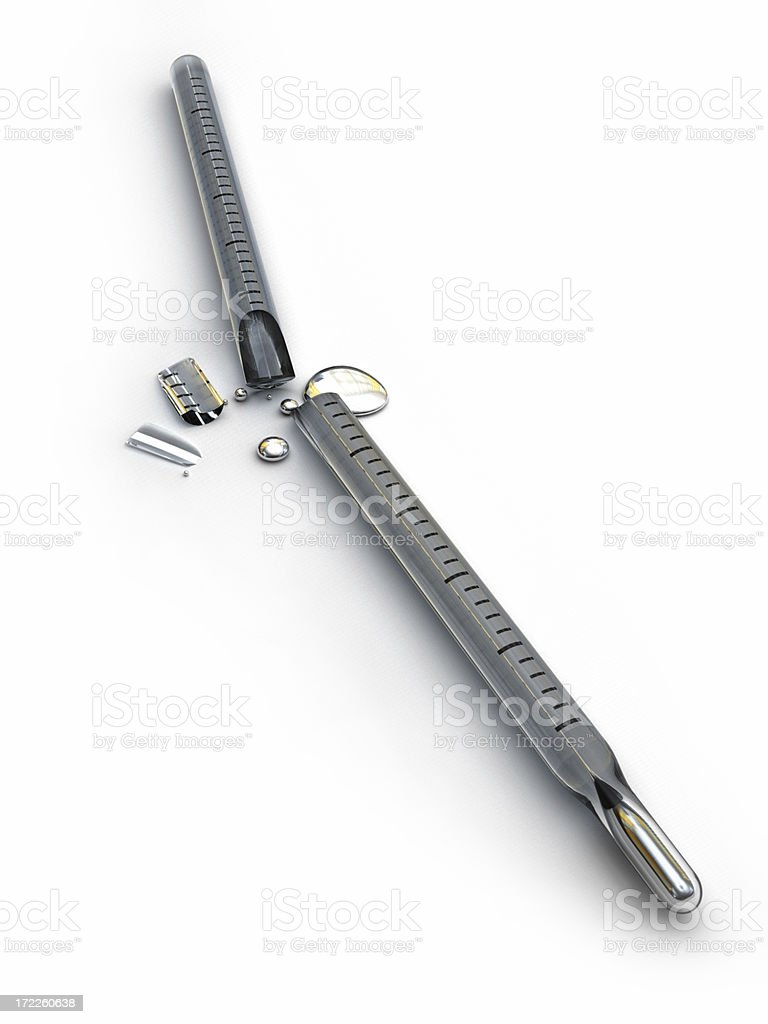 Broken Thermometer royalty-free stock photo