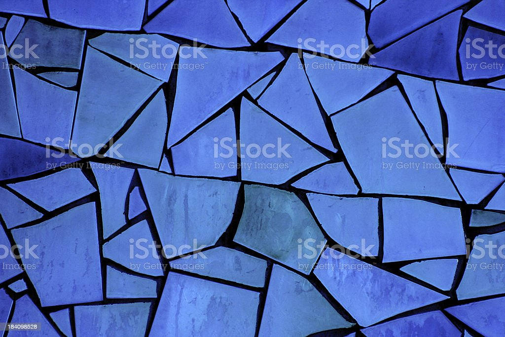 Broken Tile Mosaic Texture royalty-free stock photo