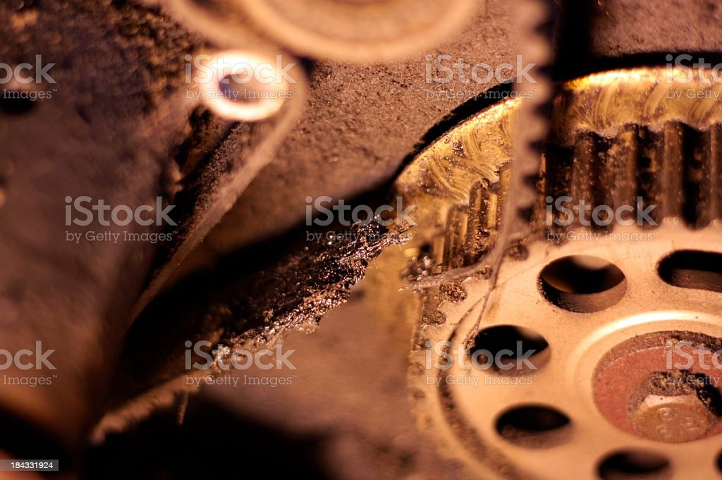 Broken Timing Belt royalty-free stock photo