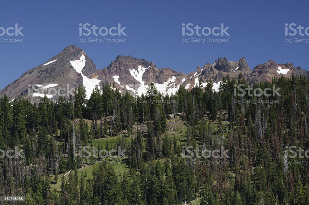 Broken Top Mountain stock photo