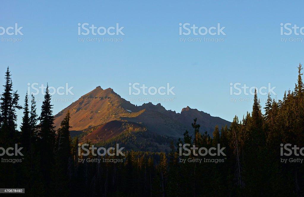 Broken Top Sunset stock photo