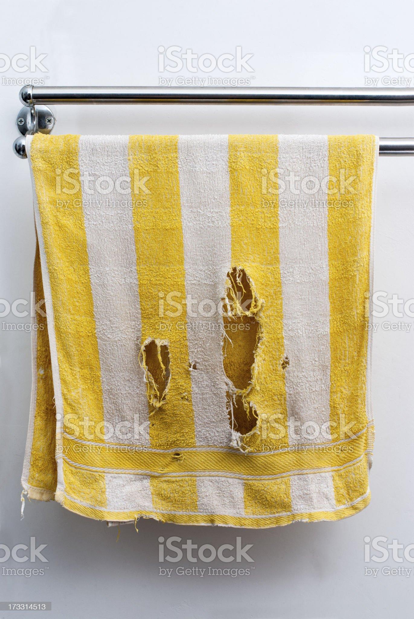 broken towel royalty-free stock photo