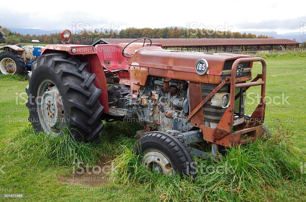tractor roto foto de stock libre de derechos
