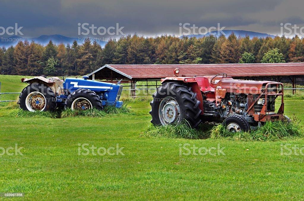 Los tractores roto foto de stock libre de derechos