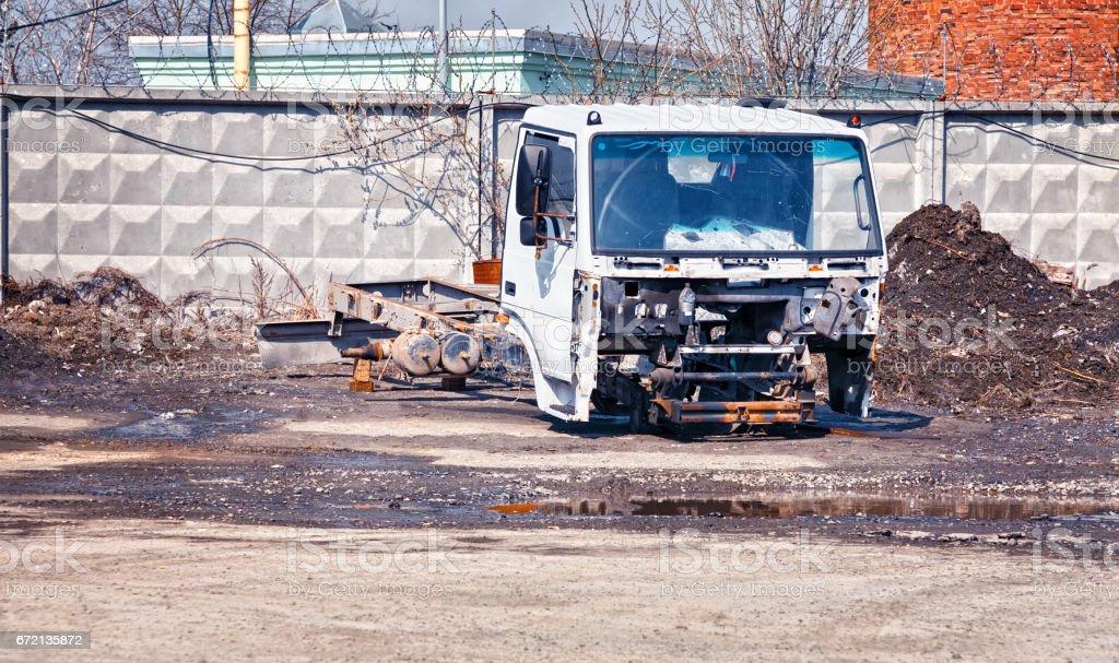 Broken truck stock photo