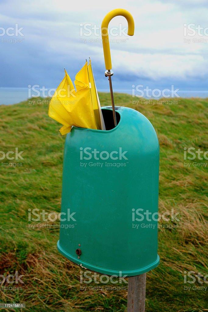 Broken Umbrella in Helgoland (Heligoland), Germany stock photo