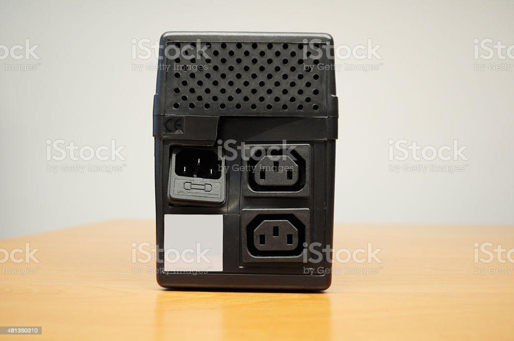 Broken Uninterruptible Power Supply (UPS) stock photo